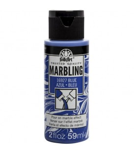 16927 Blau Pintura acrilica FolkArt Marbling per marbrejat 59 ml.