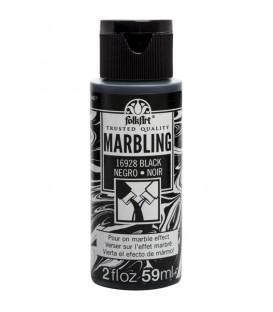 16928 Negre Pintura acrilica FolkArt Marbling per marbrejat 59 ml.