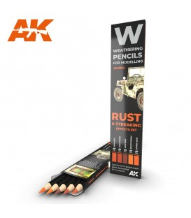 AK10041 Set 5 crayons weathering Rust and Streaking