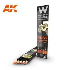 AK10041 Set 5 llapis weathering Rust and Streaking