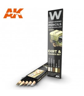 AK10044 5 Weathering Pencils set Dirt and Marks