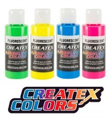 createx fluorescent paints