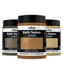 texturas de areia e terra