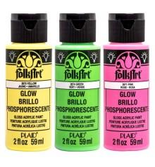 Pintura acrilica FolkArt Glow