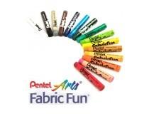 pastels textils Pentel Fabric Fun