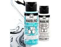 pintura acrilica FolkArt Marbling - Marbrejat