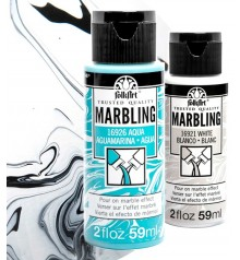 pintura acrilica FolkArt Marbling - Marmoleado