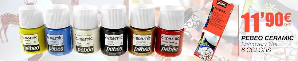 Pebeo Ceramic Discovery Set 6 uds. 20 ml.