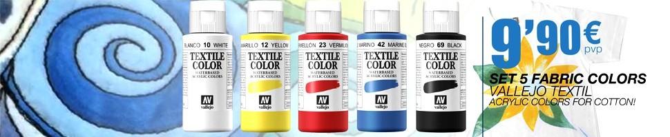 Set 5 Vallejo Textil Colors